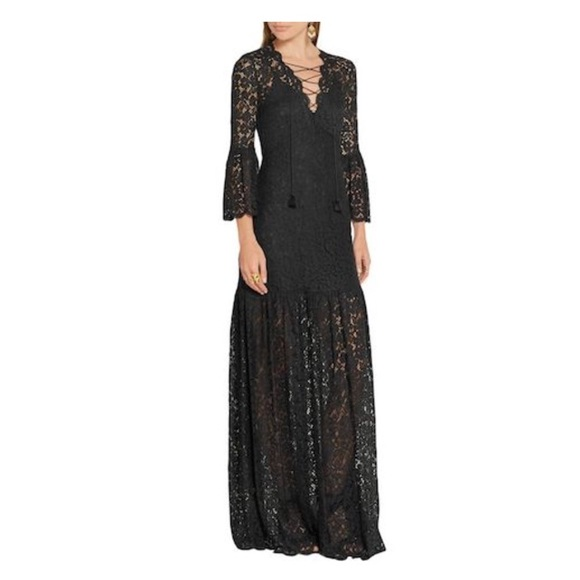9452e875c44 Rachel Zoe Formal Lace Maxi Dress with Bell Sleeve